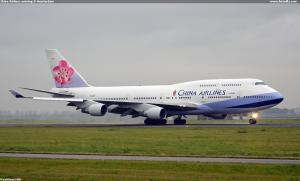 China Airlines arriving @ Amsterdam