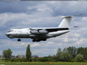 IL-76TD Asiacontinental Airlines v Pardubicích